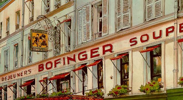 Meniuri vechi de restaurante pariziene