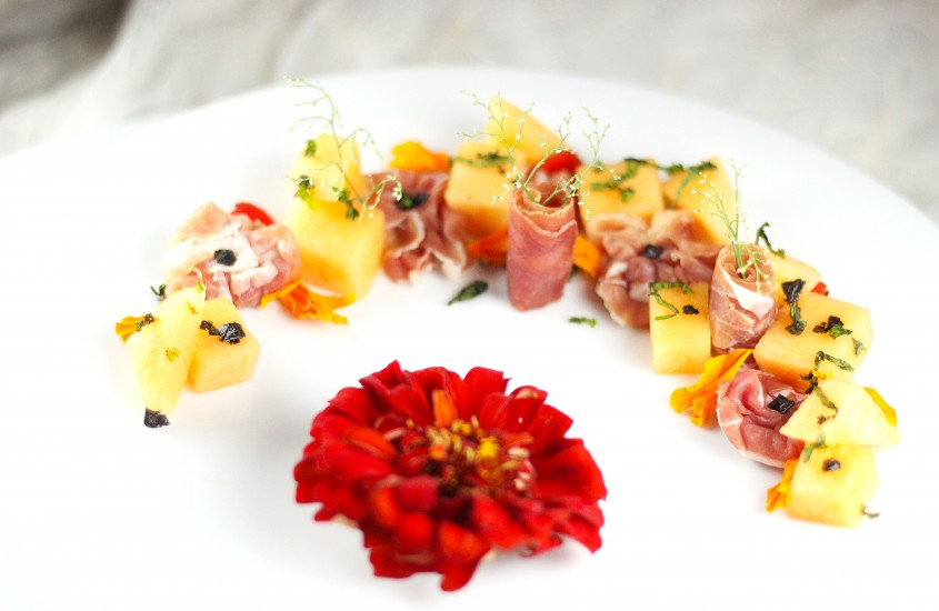 Prosciutto cu pepene galben si emotii de vara