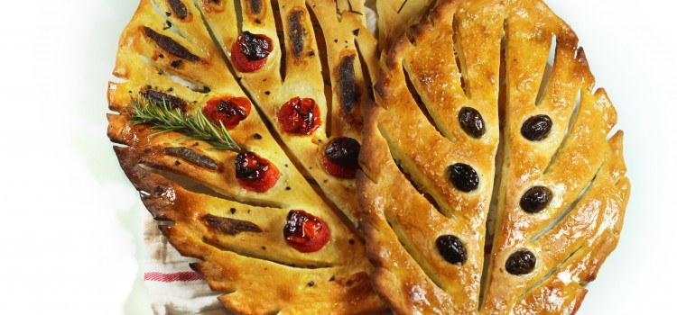 Fougasse, painea in forma de frunza