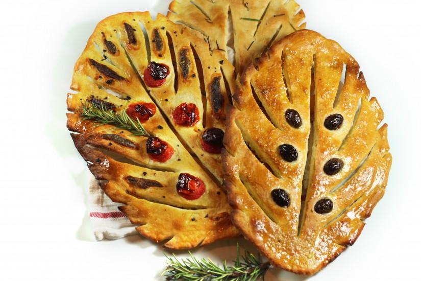 Fougasse, painea in forma de frunza