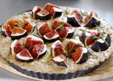 Tartă italiană de smochine cu frangipan și rozmarin